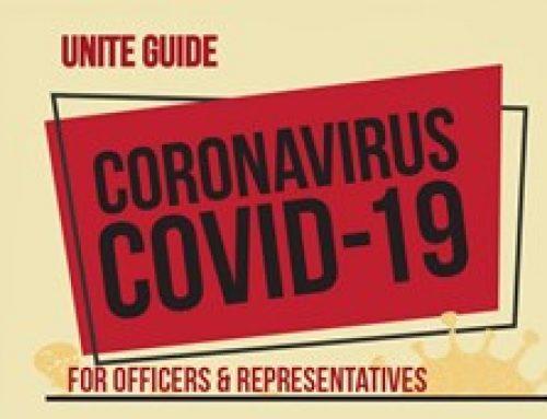 Unite coronavirus COVID-19 advice